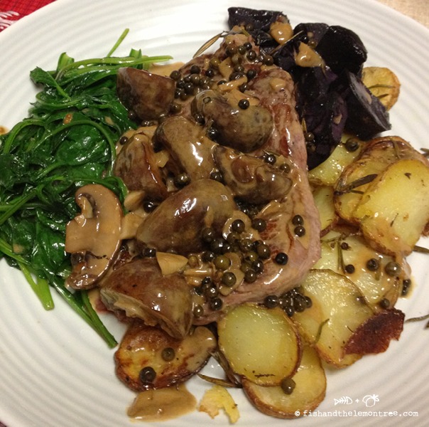 Green Peppercorn Mushroom Sauce - Amie Mason copyright 2013