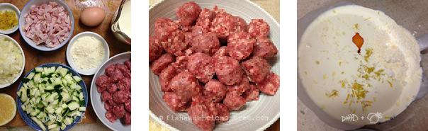 Lamb Meatball Carbonara - Amie Mason copyright 2013