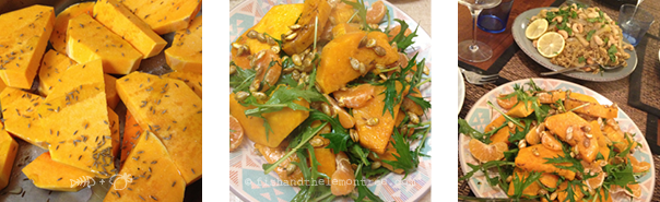 Roasted Pumpkin Mandarin Salad - Amie Mason copyright 2013
