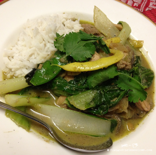 Green Chicken Curry - Amie Mason - copyright 2013