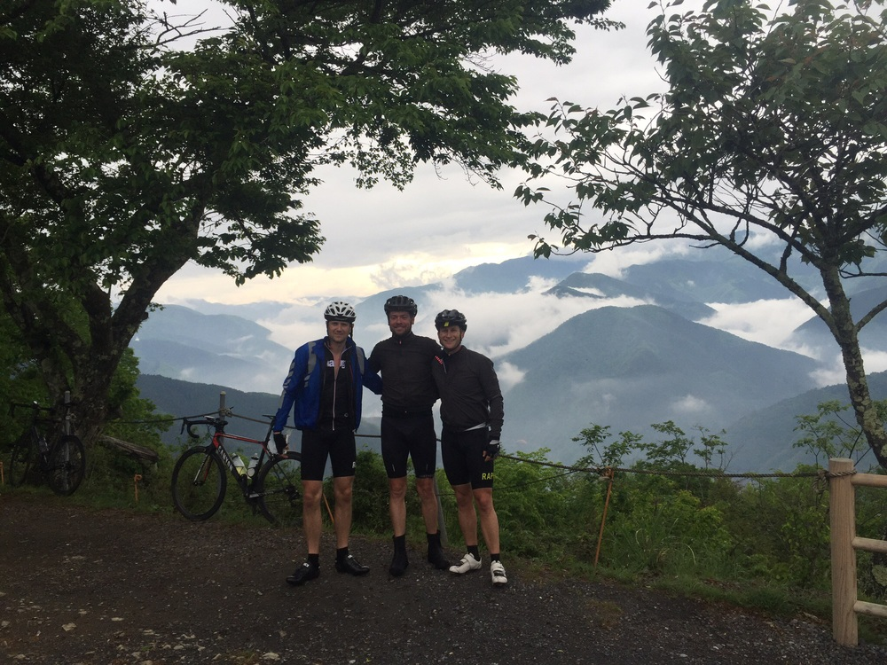 3/4 of the Crank Addicts Tokyo near the top of Tomin... What a view!!!
