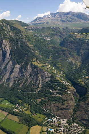 The switchbacks of alp d'huez