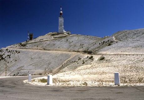 The moonscape of mt. Ventoux