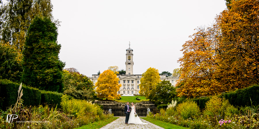 Marc and Anna's Wedding Photography at the University of Nottingham Trent Building.