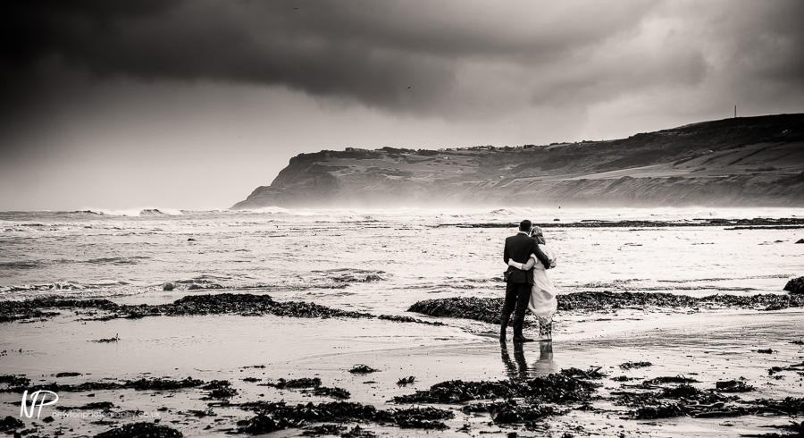 Ian and Rebecca's Wedding Photography at Robin Hoods Bay, Yorkshire.