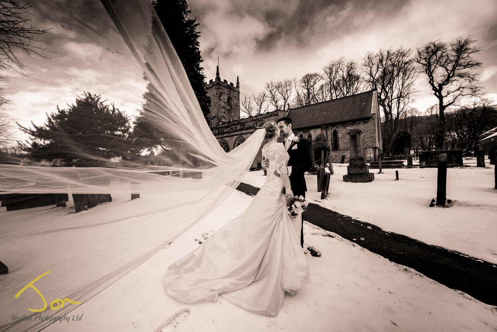Winter Wedding Photography Derbyshire