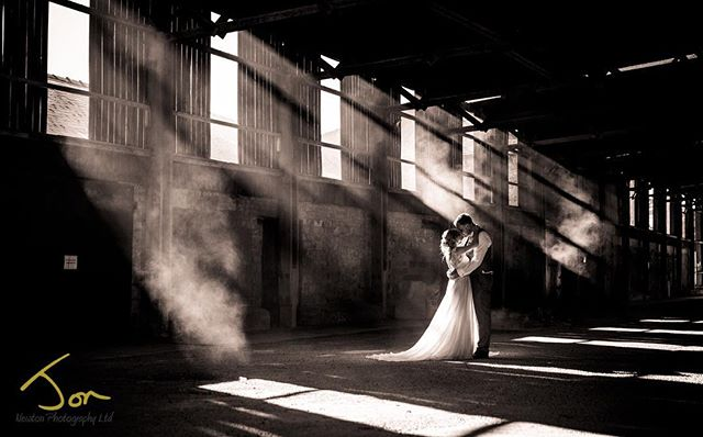 Sometimes the most unexpected place can make stunning shots. This in the barn car park @shottlehall Derbyshire. #naturallight #derbyshireweddingphotographer #creativephotography #creativeweddingphotography #smokebombphotography
