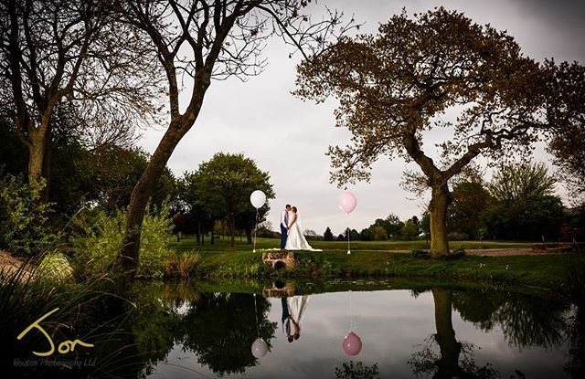 Reviewing some of my favourite shots from 2018. Off the beaten track, one of my fav spots @horsleylodge - giant balloons, reflections and off camera flash #documentaryphotography #creativeweddingphotography #derbyshireweddingphotographer #wedding2018