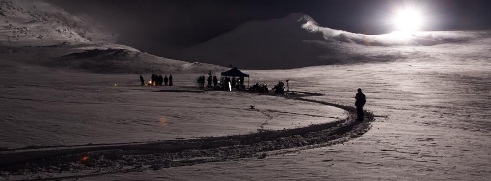 minus 25 C on set atHardangervidda, Norway.©Eirik Evjen