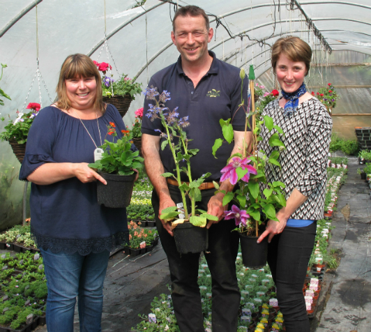L-R Julie Haylock, Mike Burks, managing director of The Gardens Group, and Elle Wilson.