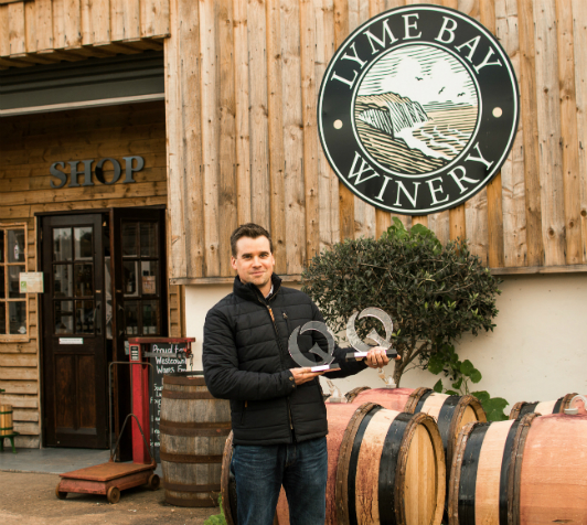James Lambert, managing director of Lyme Bay Winery outside the Shute-based winery.