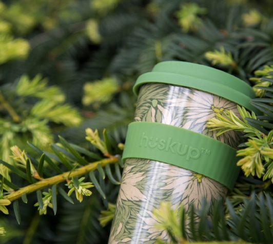 Huskup environmental green reusable cup