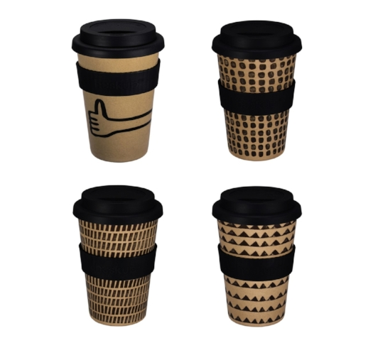 Huskup resuable coffee cup Donna Sarah design
