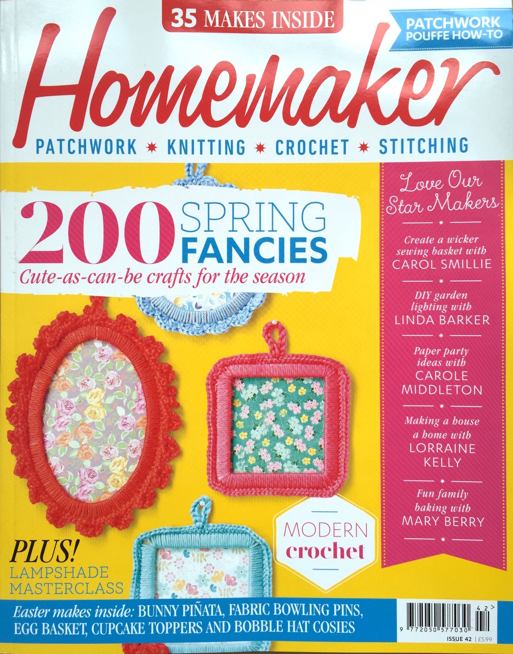 March 2016 - Homemaker Magazine. Issue 42. Stitch a Bunny Bowling Set DIY Project.