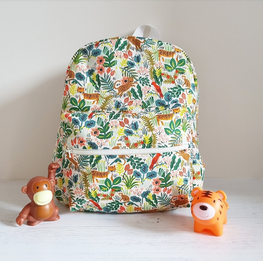 August 2018 -What Saysie Makes Blog - Jungle Safari Toddler backpack