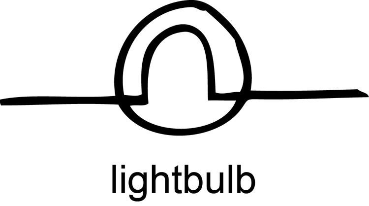 schematic symbol for light bulb