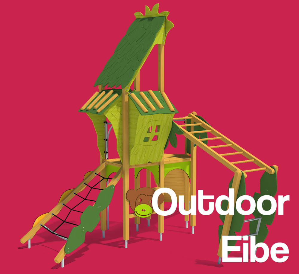 Outdoor play spaces in partnership with Eibe international