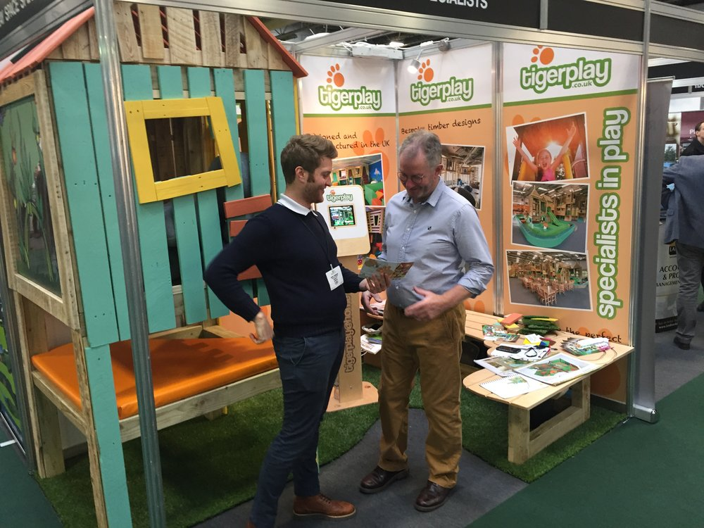 Dan and Gary at the Tigerplay stand in the NEC