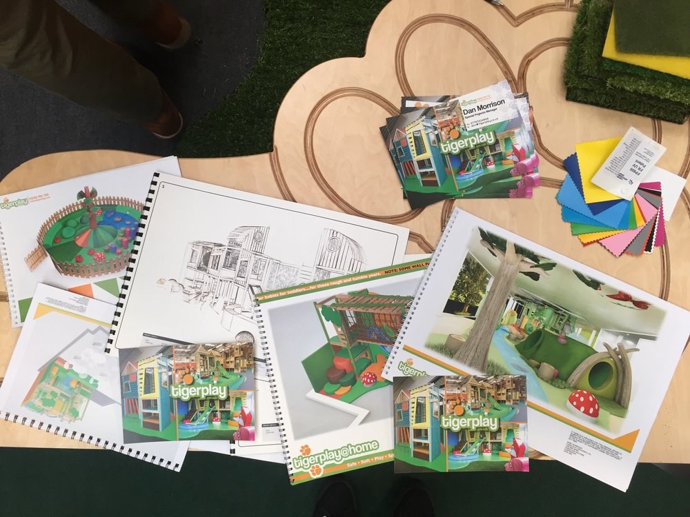 Tigerplay had a range of conceptual designs and materials on show for visitors to browse through