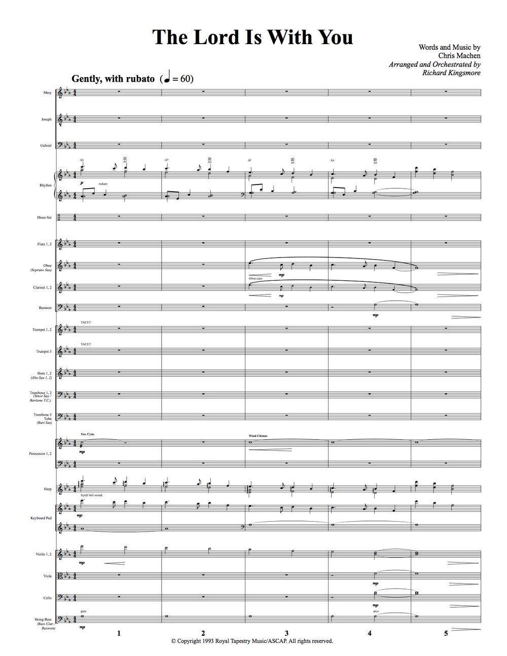 Conductor's Score - First Page