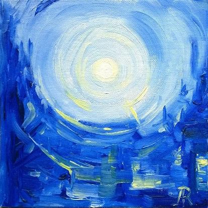 Spanish Moon  Oil on canvas