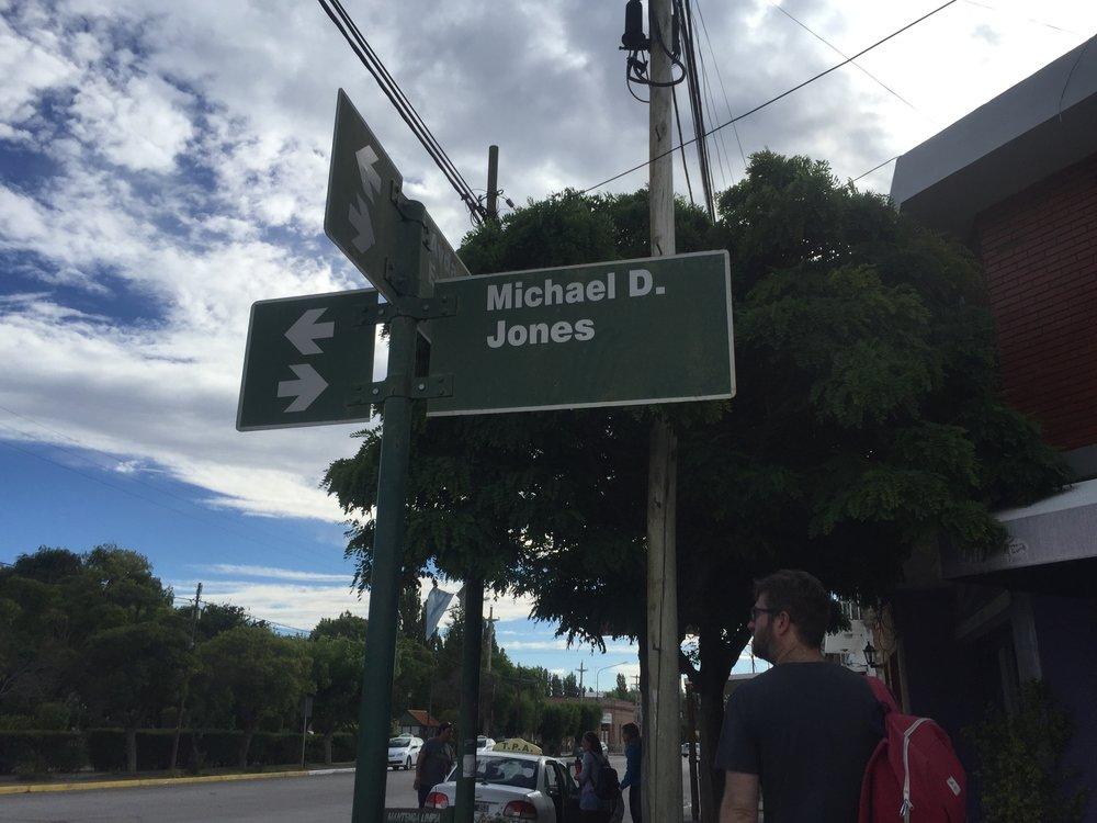 Michael D. Jones street in Gaiman