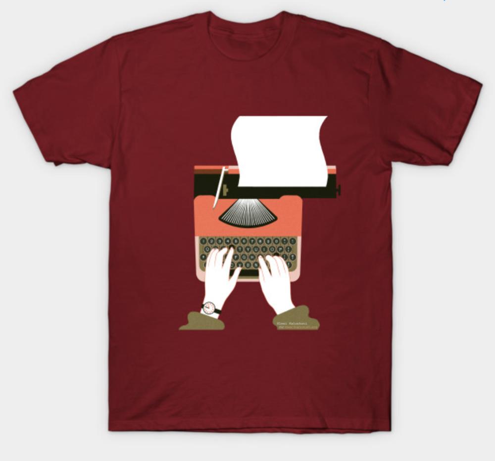 Typing Tshirt maroon