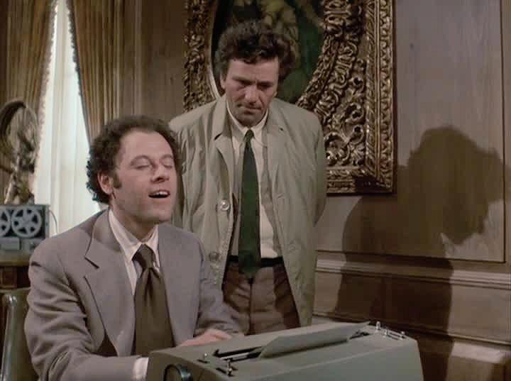 Columbo seems perplexed by typewriters