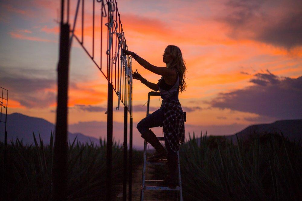 Olivia Steele Neon Artist Oaxaca Mexico