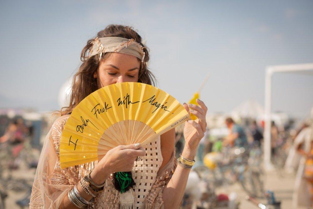 Olivia Steele Hand Fan