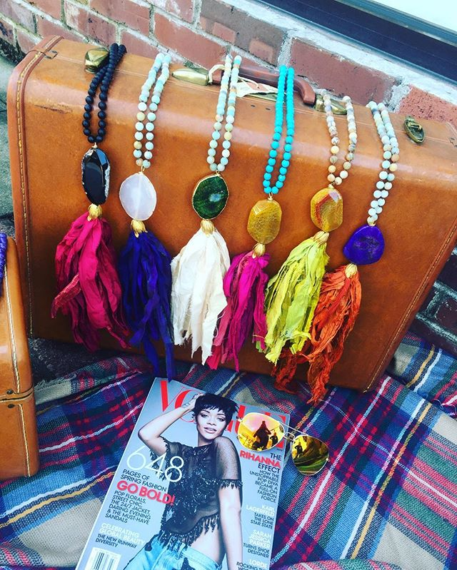 Gorgeous tassel necklaces for fall! Check out our new items!