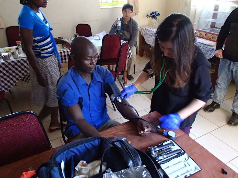 A few basic vital sign checks on some of the locals. This is the first time this 37 year old man had his blood pressure checked..jpg