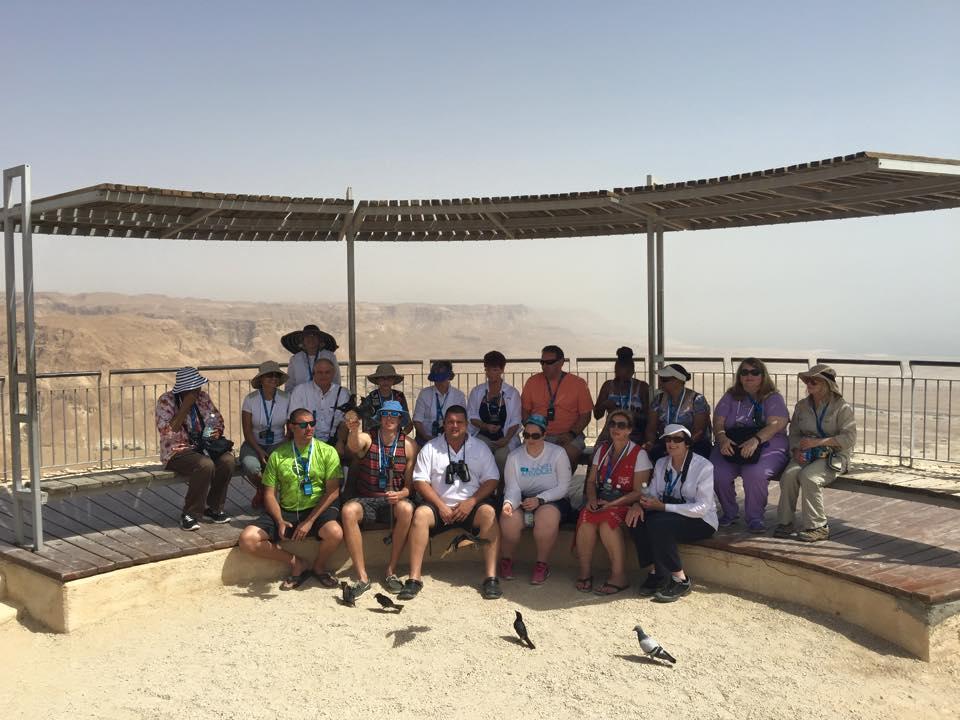 Group on top of Masada