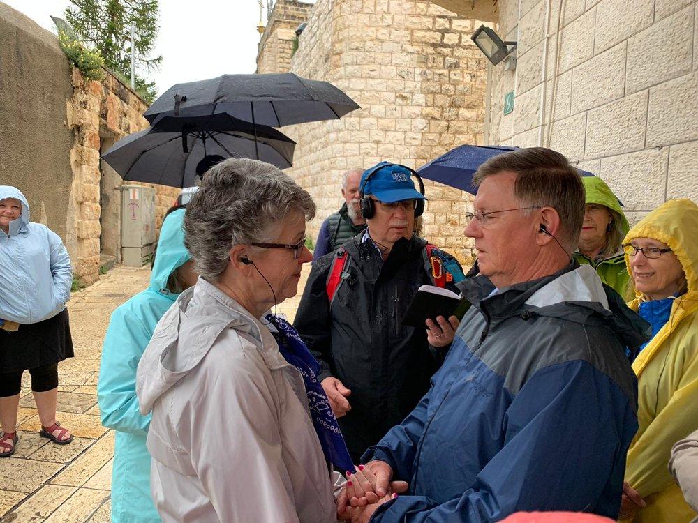 A couple renews their wedding vows near Cana.