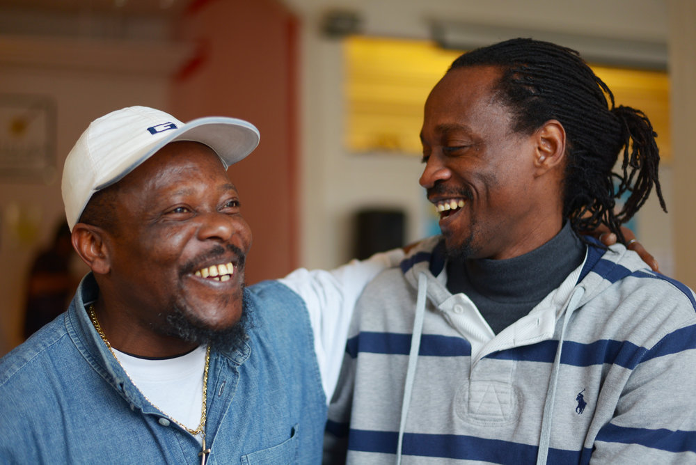 Frank (left) and Madda (right) both come to Trampoline House every week. Photo: Anna Emy.
