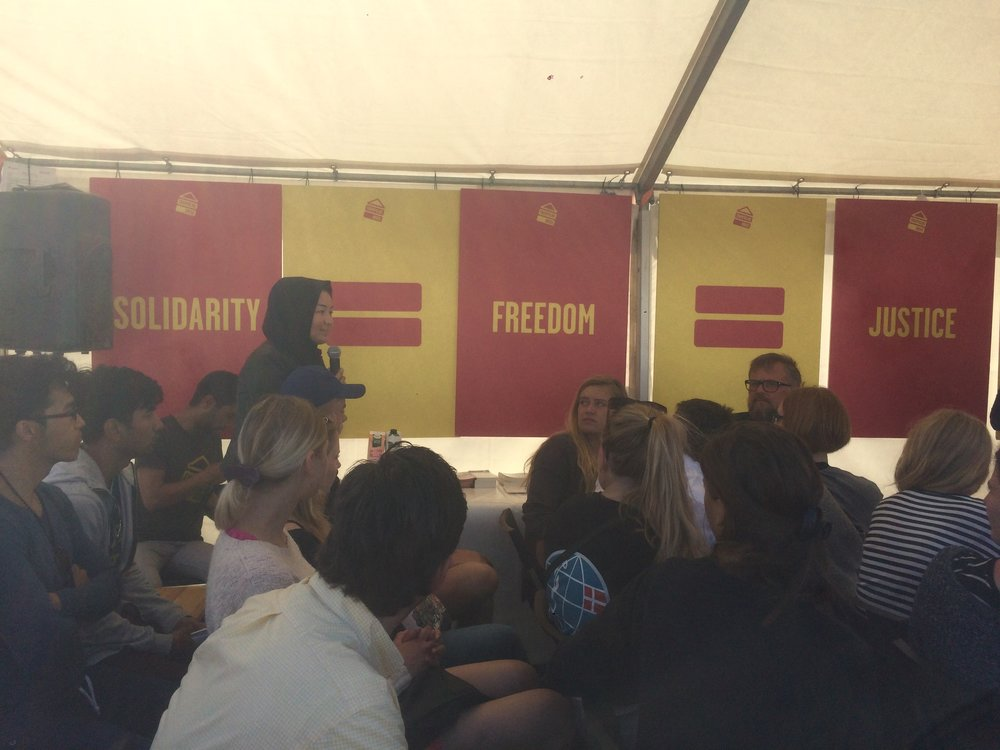 At the People's Meeting 2017, Trampoline House focused on asylum seekers' possibilities to participate in society.
