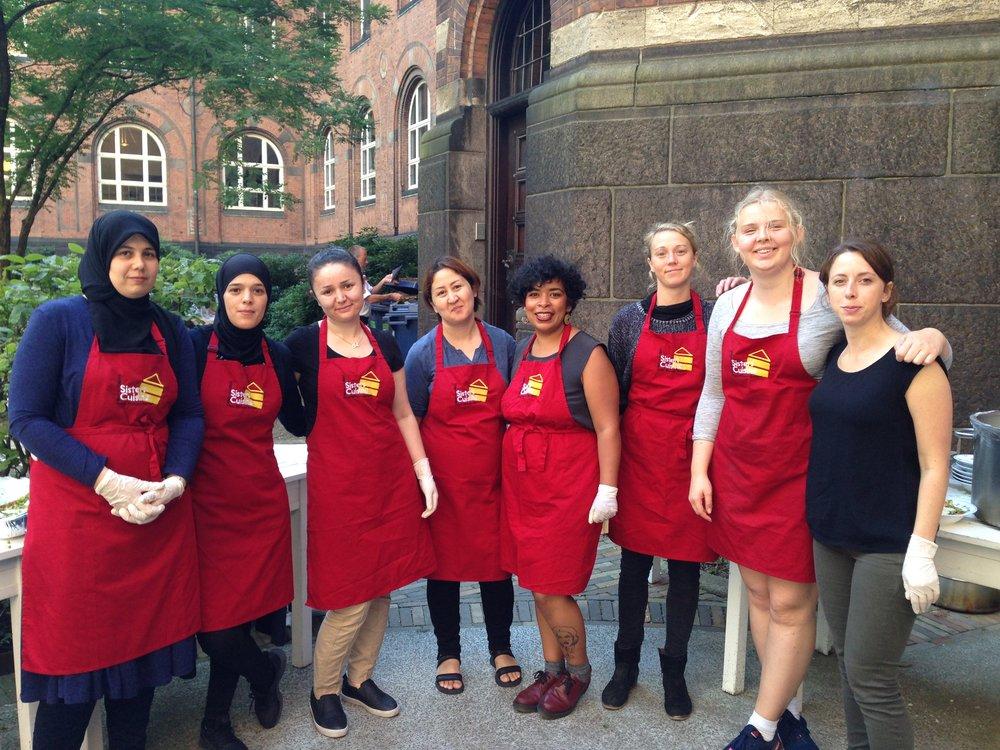 Sisters' Cuisine til klimakonference i Københavns Rådhus. Foto: Maria Amanda Beydin.