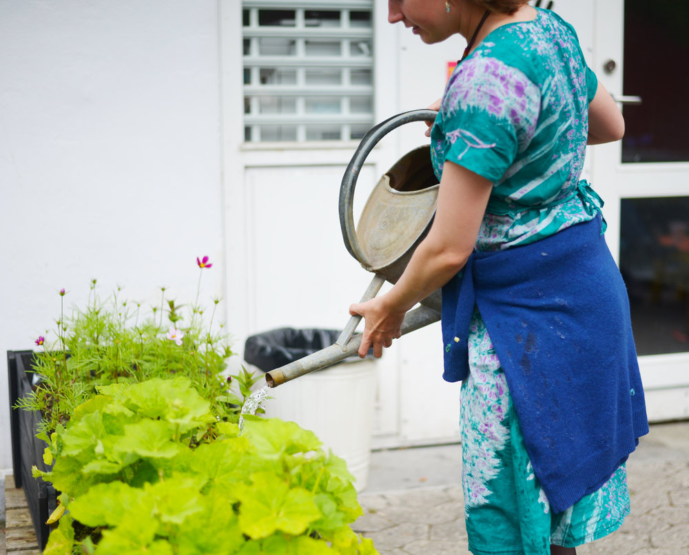 Gardening will be on Wednesdays and Fridays from 3:30–5:30 pm. :)   Photo: Anna Emy