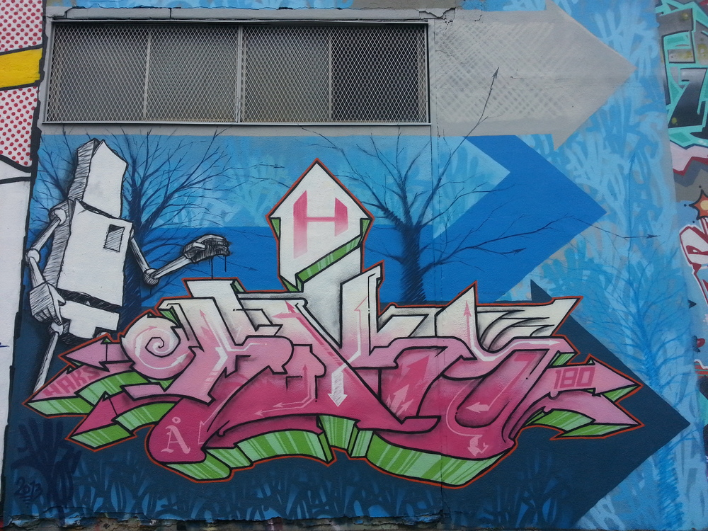 HAKS Piece from Meeting of the Styles Wall (Montrreal 2013}