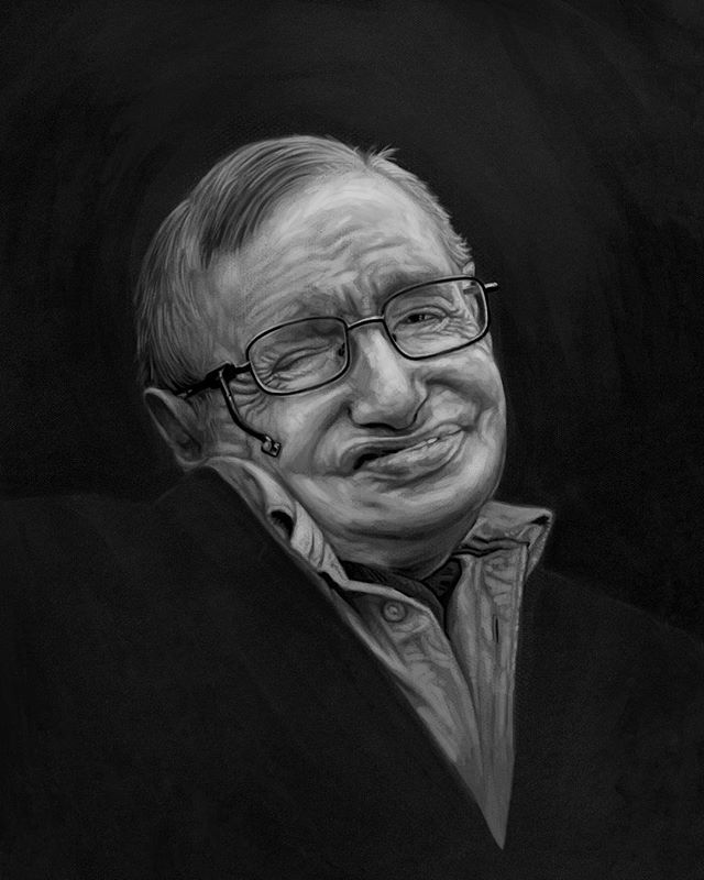 """Life would be tragic if it weren't funny."" RIP Stephen #stephenhawking #illustration"