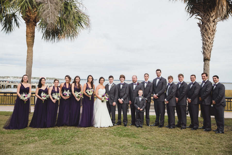Long Purple Bridesmaids Dresses