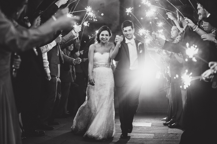 Charleston Wedding Sparkler Exit
