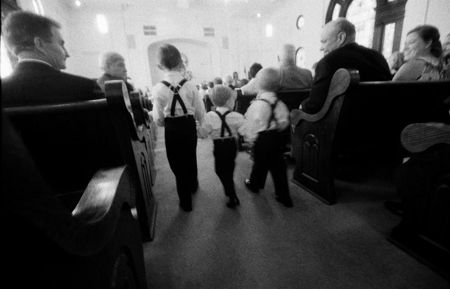 southern wedding ceremony ring bearers