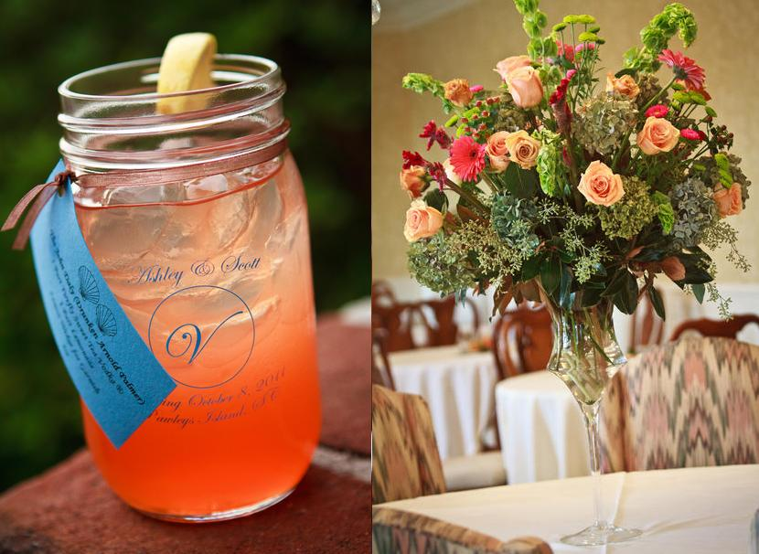 heritage plantation pawleys island south carolina lowcountry wedding specialty drink mason jar