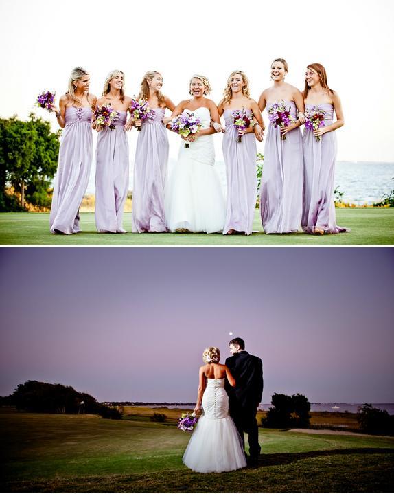 purple weddings bridesmaids dresses