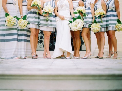 Charleston, Hilton Head, Myrtle Beach Lowcountry weddings blog showcasing southern, lowcountry bridesmaids dresses and style, striped, long, cocktail, short, print wedding bridesmaids dresses Charleston, Hilton Head, Myrtle beach Lowcountry wedding blogs
