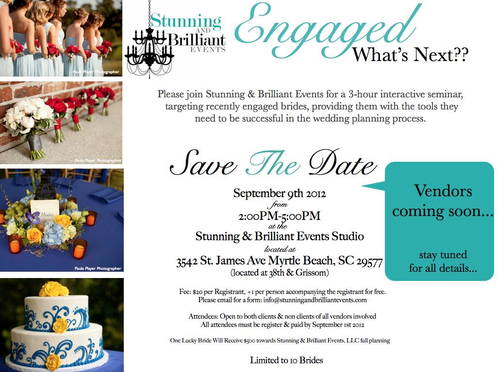 myrtle beach weddings, myrtle beach wedding vendors, lowcountry weddings, charleston weddings, stunning & brilliant events