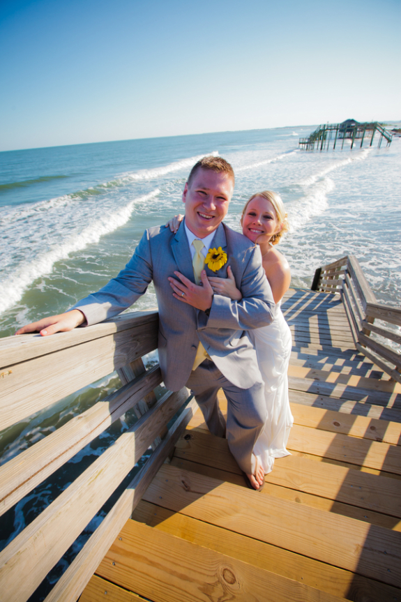 charleston wedding couple on folly beach south carolina photographed by lowcountry wedding photographer richard bell photography