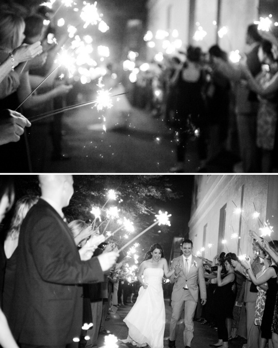charleston wedding, gibbes museum of arts sparkler exit, lauren and colin