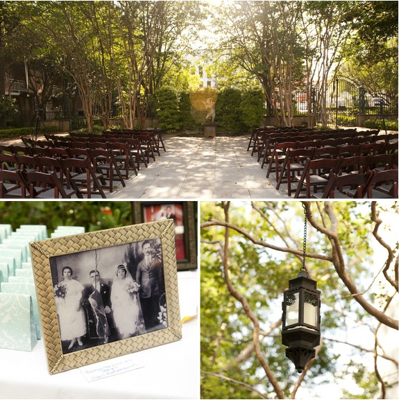 charleston wedding at gibbes museum of art, outdoor wedding ceremony, charleston wedding vendors